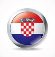 Croatia flag button vector image