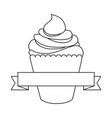 cupcake icon image vector image vector image