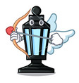 cupid street lamp character cartoon vector image
