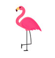 cute pink flamingo icon vector image