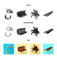 design of tree and raw symbol collection vector image vector image