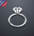 diamond ring icon symbol 3D style Trendy modern vector image