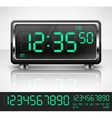 Digital watch on white vector