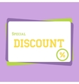 discount large banner vector image