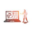 doctor online medicine laptop service concept vector image