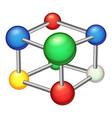 education molecule icon cartoon style vector image vector image