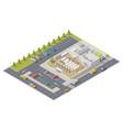 element infographics representing supermarket in vector image vector image