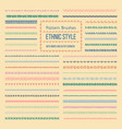 Ethnic style pattern brushes set