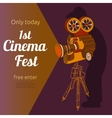 Film festival advertising poster vector image vector image