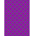 Flowers in rhombuses purple shades vector image vector image