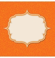 Frame in retro vintage seamless background vector image vector image