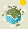 Go green world design vector image