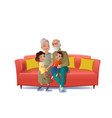 grandparents playing with grandchildren vector image