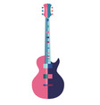 guitar in flat style multicolored on white vector image