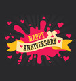 happy anniversary template poster vector image vector image