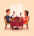 happy couple lovers man and woman characters vector image vector image