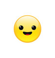 happy emoji face vector image vector image