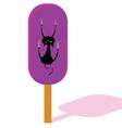 ice cream with cat vector image