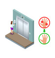 isometric automatic alcohol hand sanitizer vector image vector image