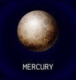 mercury planet icon cartoon style vector image vector image