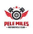 motorcycle club community logo design vector image vector image