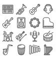 musical instruments icons set on white background vector image