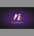 n alphabet letter gold golden logo icon design vector image vector image