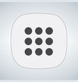 navigation button for apps isolated on modern vector image vector image