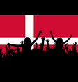 people silhouettes celebrating denmark national vector image vector image