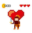 pixelated video game icons vector image vector image