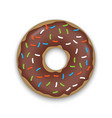 realistic donut isolated vector image
