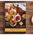 restaurant food flyer vector image vector image