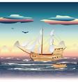Sailing Ship on the Sea vector image