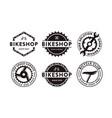 set badge emblem bicycle shop bike club logo vector image vector image