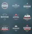 set hipster vintage labels logotypes badges vector image