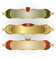 set of frames oblong shape with a gold rim vector image vector image