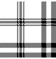 simple black white check plaid seamless pattern vector image vector image