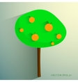 simple stylized orange tree on light background vector image