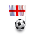 Soccer Balls or Footballs with flag of England vector image vector image