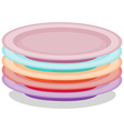 stack plates vector image vector image