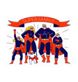 super family concept characters mother father vector image vector image