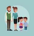 teacher with kids vector image vector image