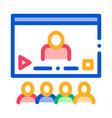 video presentation icon outline vector image