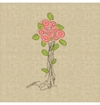 Vintage rose doodle flower vector image vector image