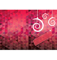 Xmas card geometric background vector image vector image