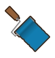 roller paint tool isolated icon vector image