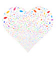 feather fireworks heart vector image