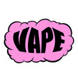 smoke vape icon cartoon vector image