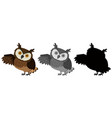 a set of owl character vector image