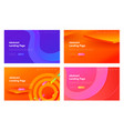 abstract gradient geometric wave shape web page vector image